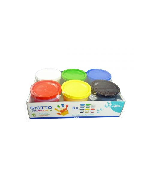 Fingerfarben Set Giotto 6 x 200ml
