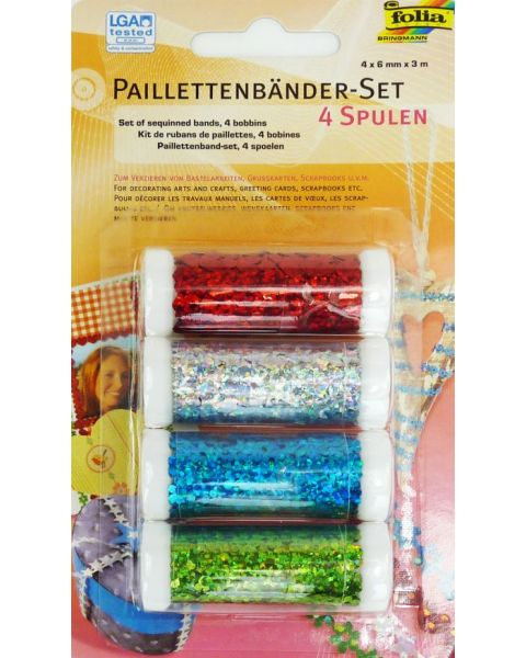 Paillettenbänder-Set